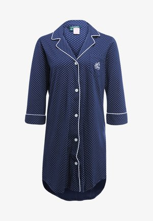 HERITAGE 3/4 SLEEVE CLASSIC NOTCH COLLAR SLEEPSHIRT - Camicia da notte - dot navy/white