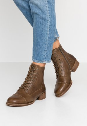 Lace-up ankle boots - khaki