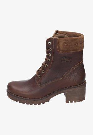 PHOEBE - Šněrovací kotníkové boty - brown