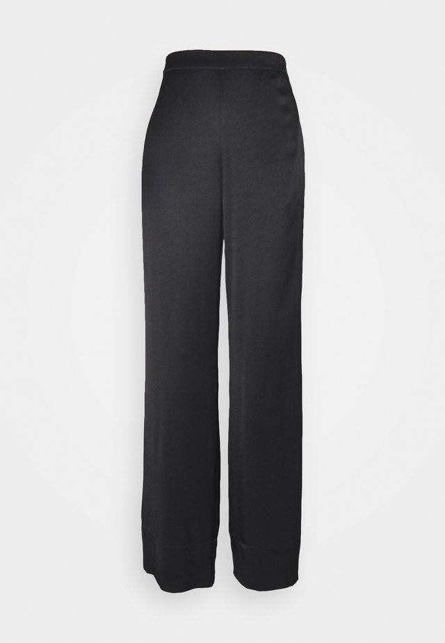 FRIGG WIDE PANTS - Stoffhose - black
