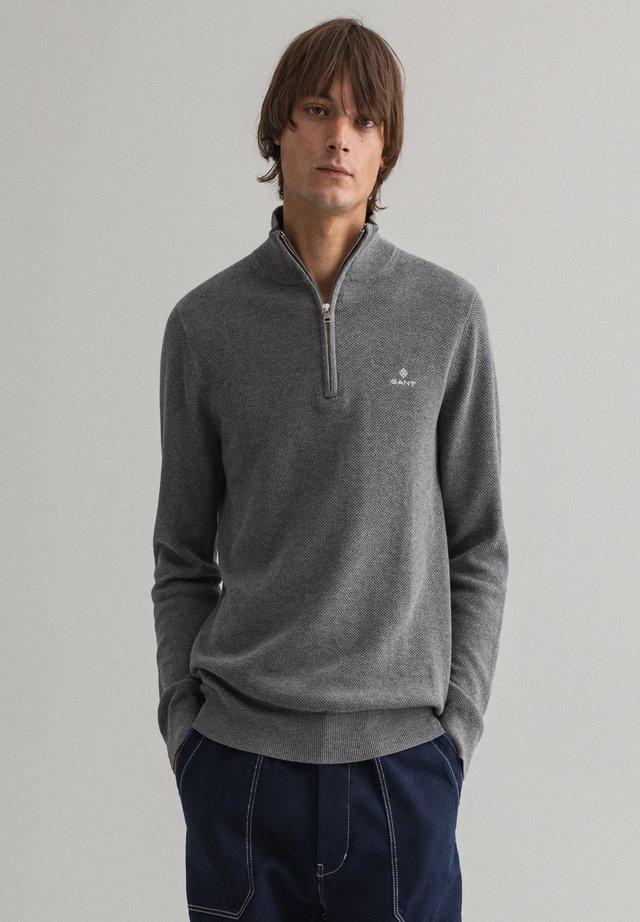 Jumper - dark grey melange