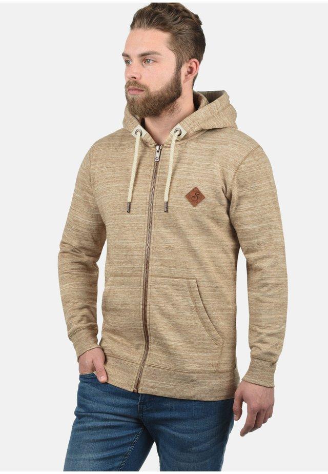 KAPUZENSWEATJACKE CRAIG - veste en sweat zippée - dune