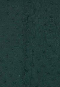 Missguided Tall - MILKMAID SKATER DRESS DOBBY - Day dress - dark green - 5