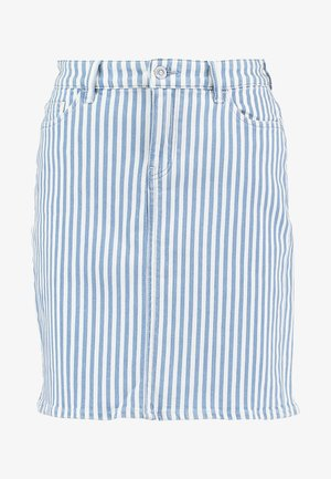 STRIPE  - Pencil skirt - blue light wash