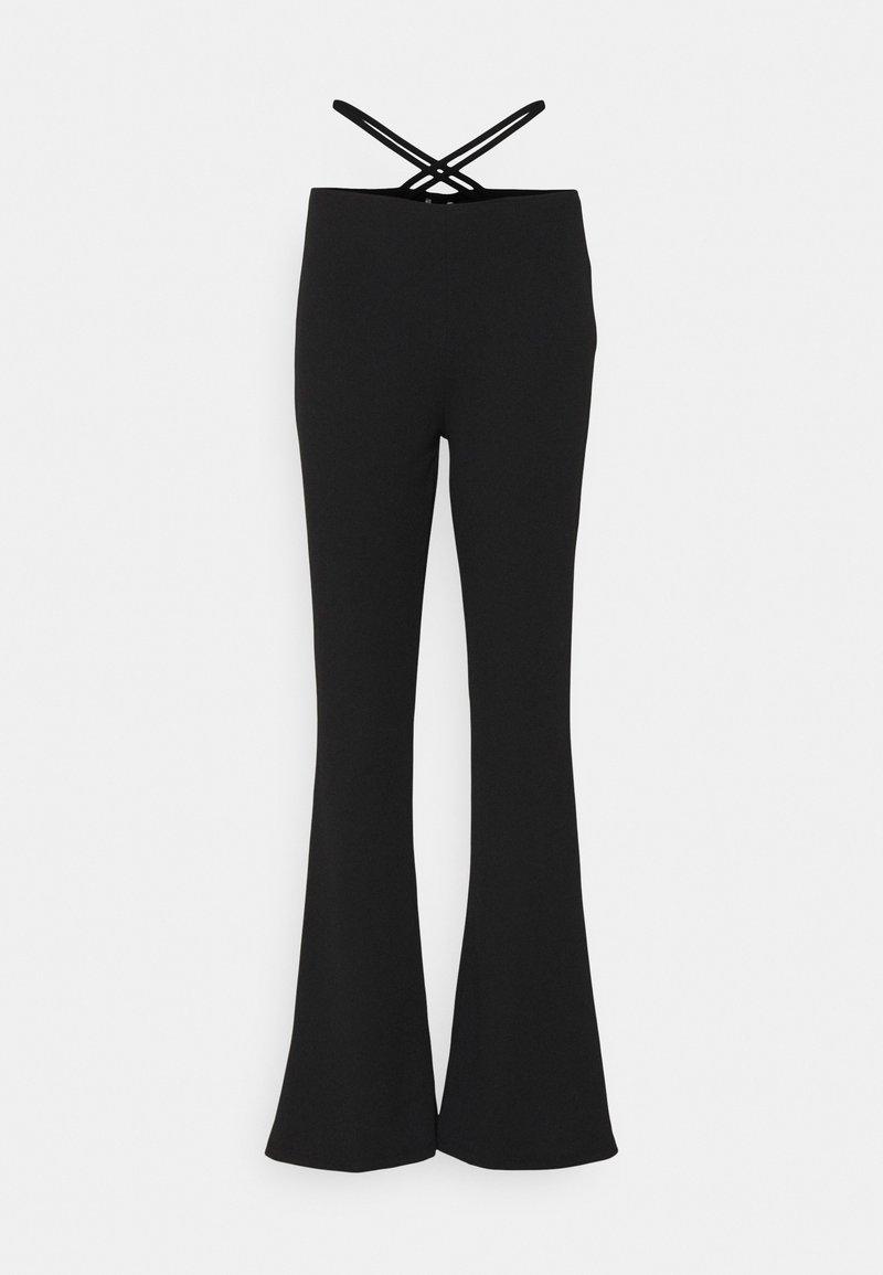 Nly by Nelly - WRAP ME UP PANTS - Pantaloni - black