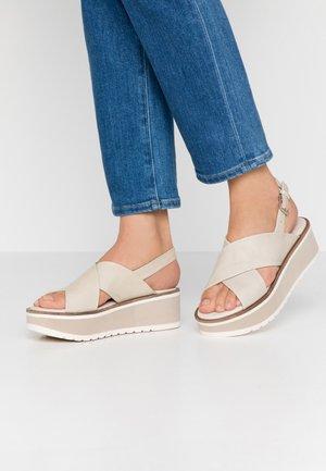 Platform sandals - ice
