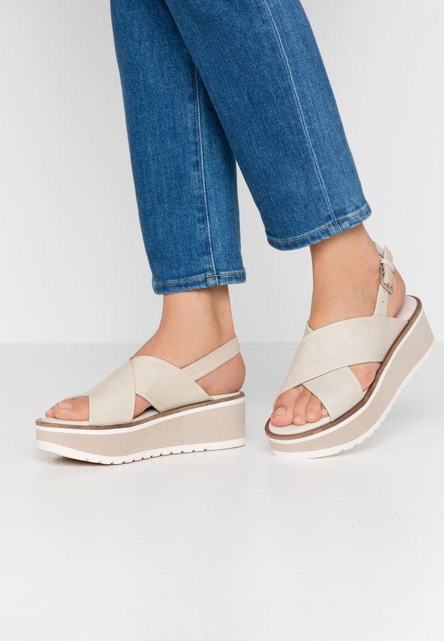 Sandales à plateforme - ice