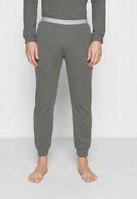 Pier One - LOUNGE HENLEY TROUSERS - Pyžamový spodní díl - mottled dark grey - 0