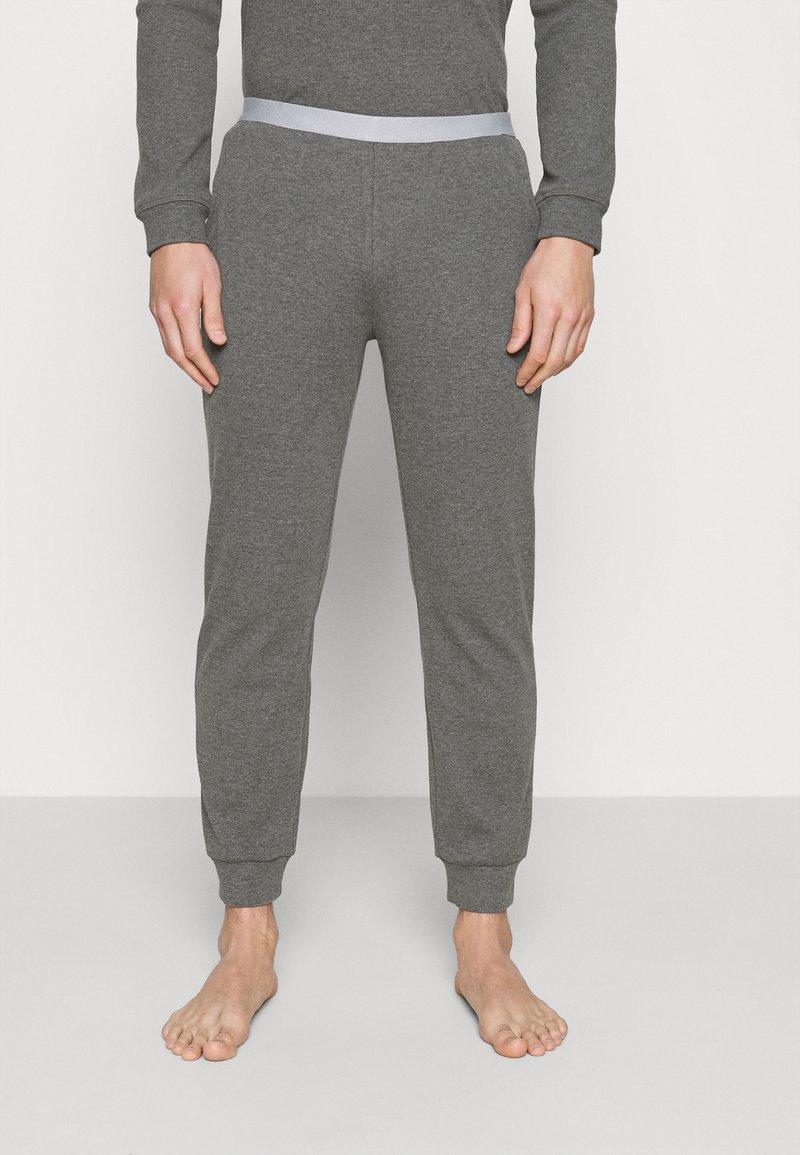 Pier One - LOUNGE HENLEY TROUSERS - Pyžamový spodní díl - mottled dark grey