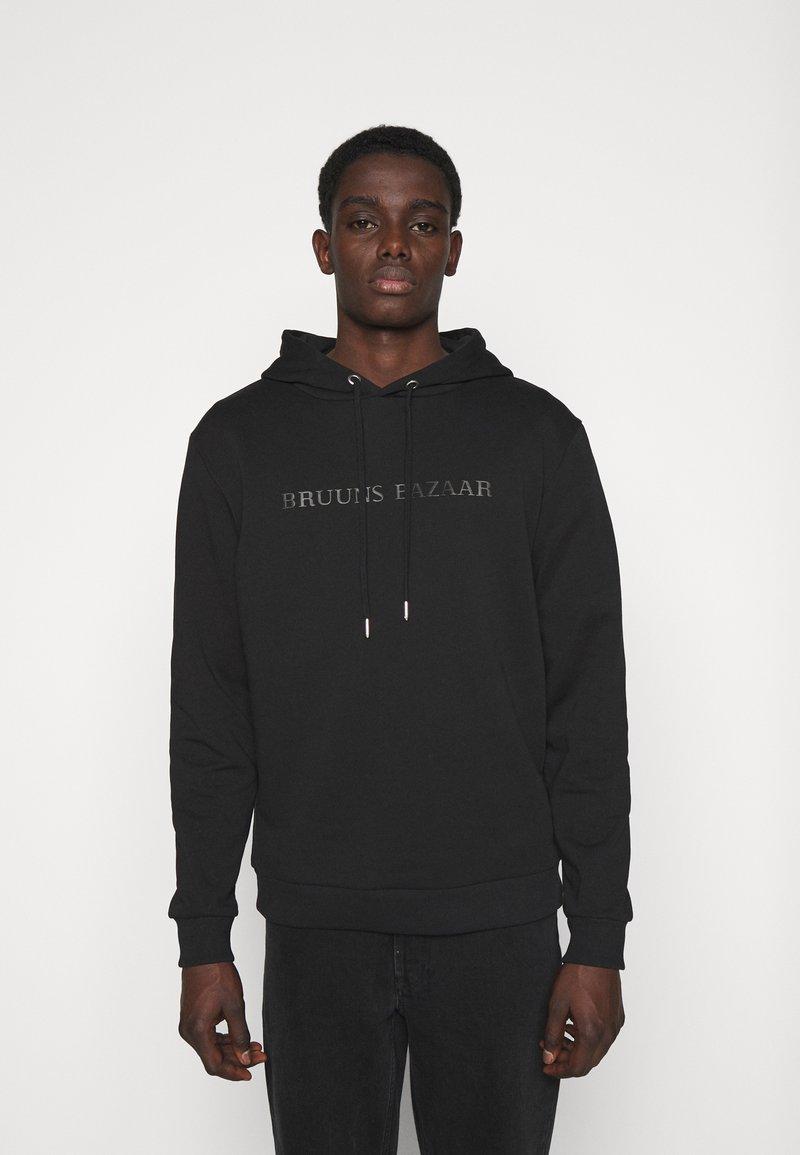 Bruuns Bazaar - BERTIL HOODIE - Felpa - black