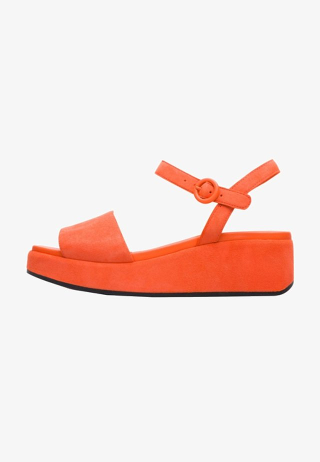 MISIA - Sandály na klínu - orange