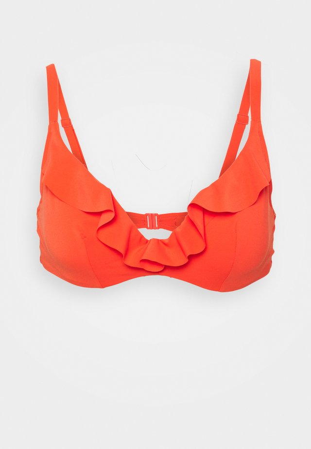 OXYGENE TRIANGLE - Bikini-Top - coral