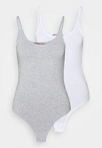 Anna Field - 2 PACK - Body - white/mottled light grey - 6