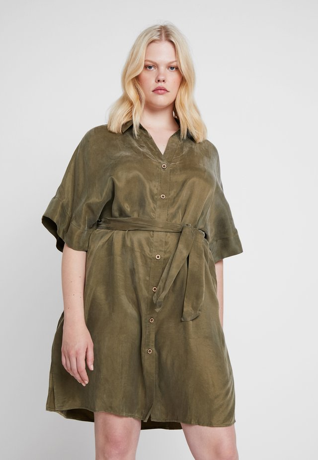 YOFY DRESS - Shirt dress - olive drab