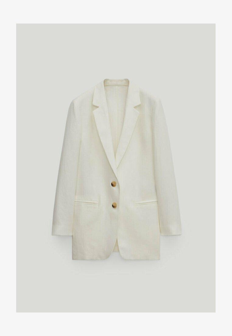 Massimo Dutti - Short coat - white