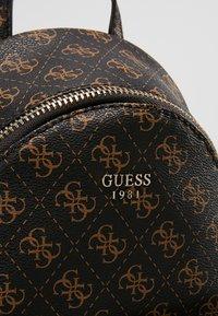 Guess - LEEZA SMALL BACKPACK - Rucksack - brown - 7