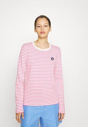 MOA STRIPE LONG SLEEVE - Långärmad tröja - off-white/pink