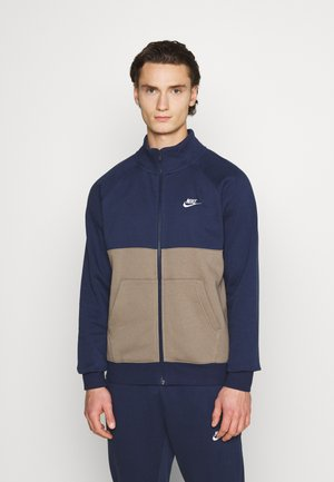 SUIT SET - Tracksuit - midnight navy/olive grey/white