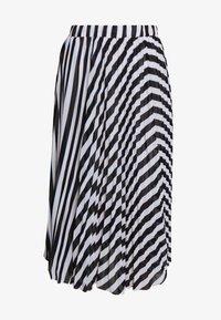 MICHAEL Michael Kors - PLEAT SKIRT - A-line skirt - white/vintage blue - 4