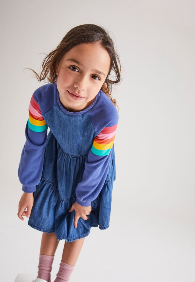 Denim dress - multi-coloured