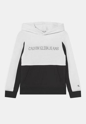 BLOCK HOODIE - Sweatshirt - bright white