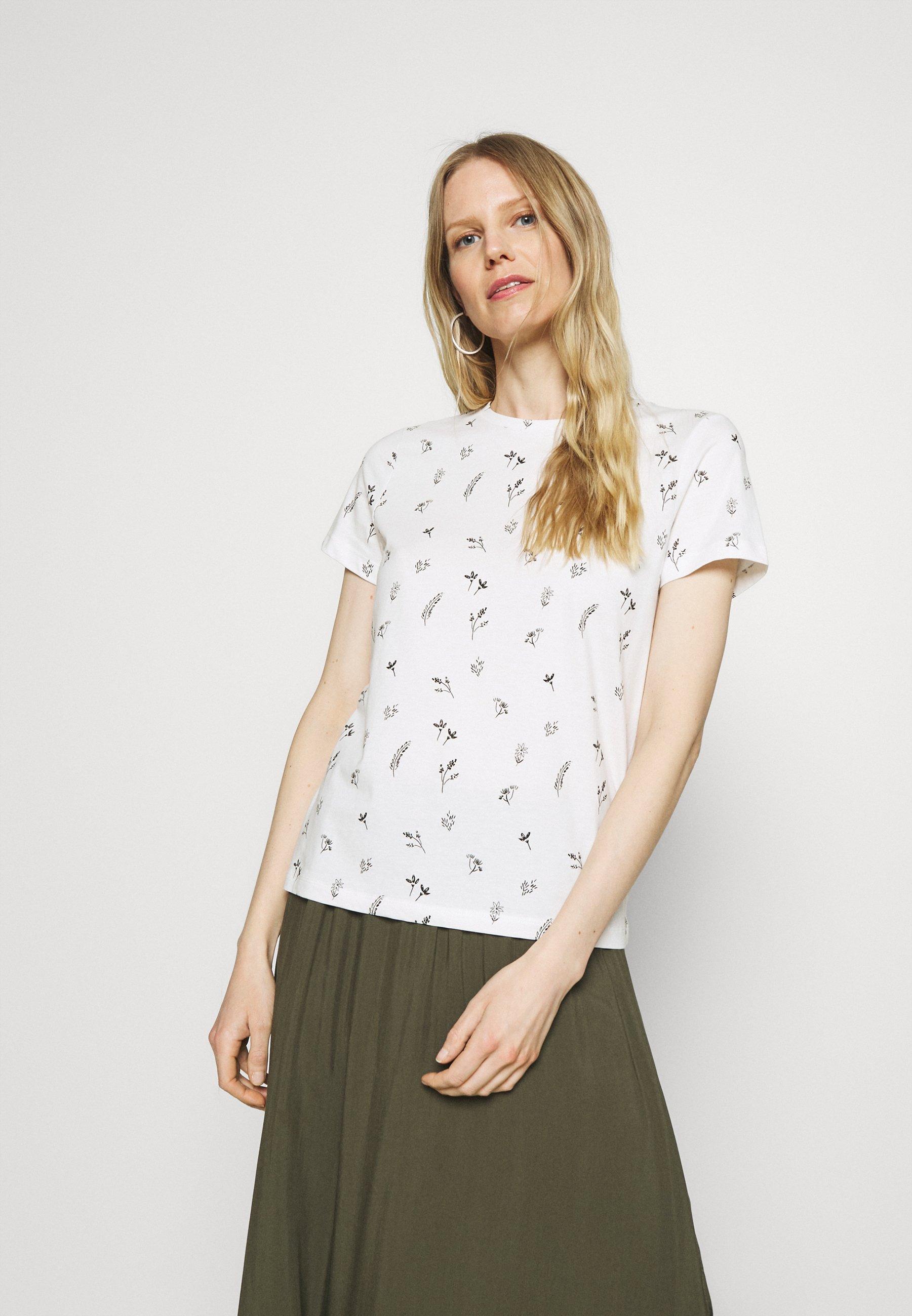 Femme CREW NECK PRINTED - T-shirt imprimé