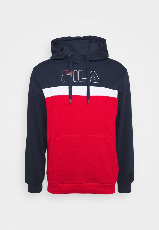 LAURITZ HOODY - Sweatshirt - true red/black iris/bright white
