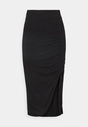 PCNEORA STRING  SKIRT   - Pencil skirt - black