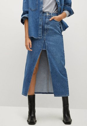 RITA-I - Denim skirt - mittelblau