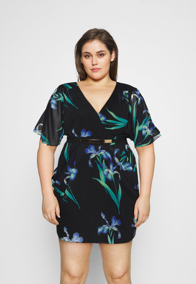 City Chic - DRESS WRAP - Robe d'été - winter iris