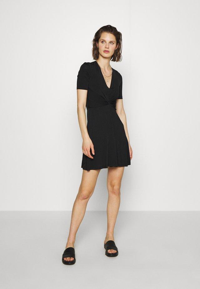 SHORT DRESS - Vestito di maglina - black