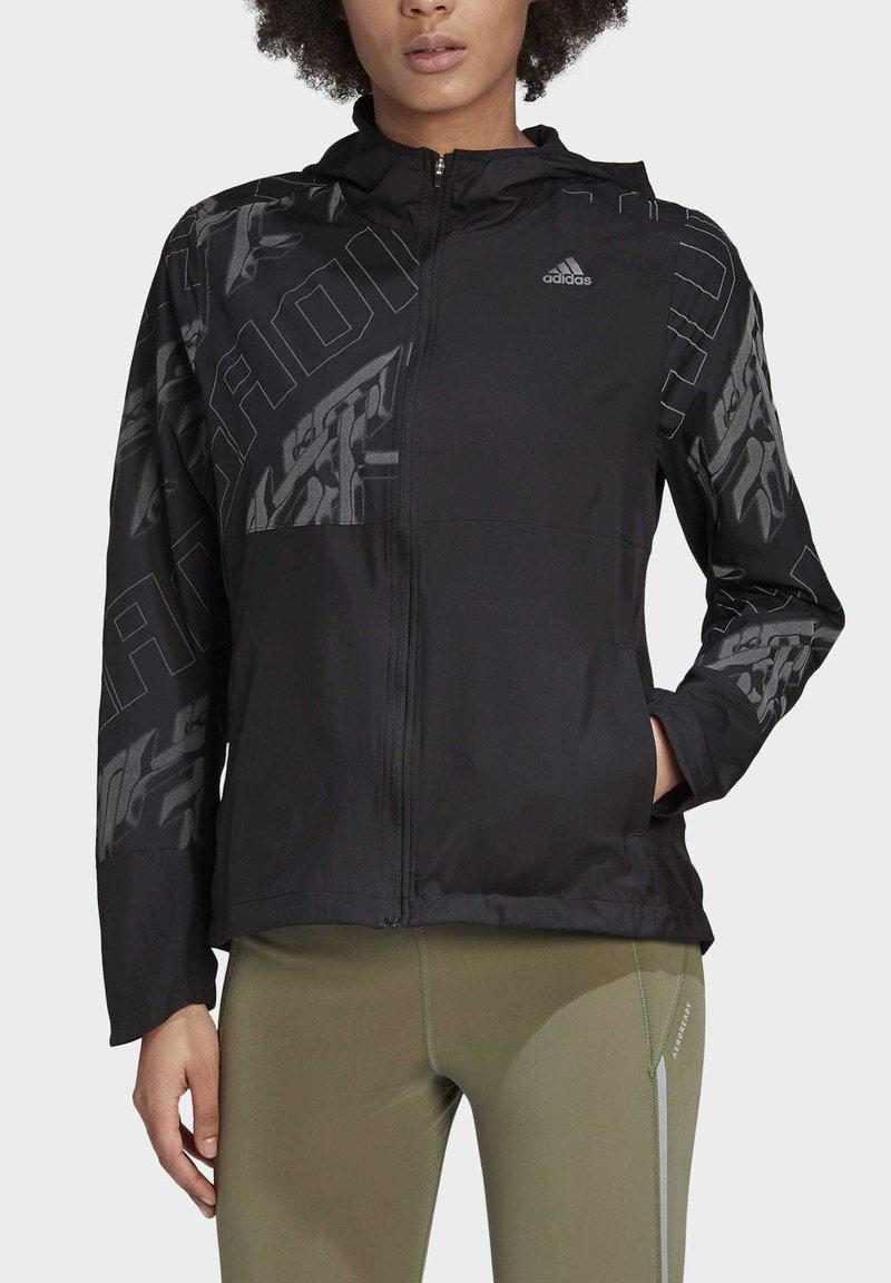 adidas Performance - OWN THE RUN REFLECTIVE JACKET - Training jacket - black