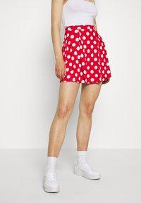 Even&Odd - A-snit nederdel/ A-formede nederdele - goji berry/white - 0
