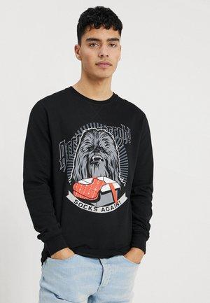 CHEWBACCA SOCKS AGAIN CHRISTMAS CREWNECK - Sweater - black