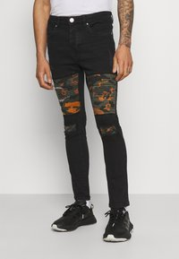 Brave Soul - ROBBIN CAMOO - Jeans Skinny Fit - charcoal wash - 0