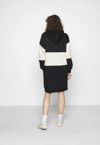 ONLY - ONLDREAMER COLOR BLOCK HOOD DRESS - Day dress - black/birch - 2