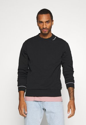 NECKLINE LOGO - Sweater - black