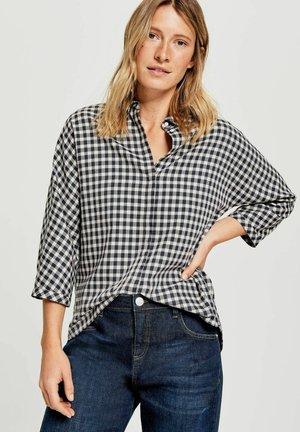 FUDO CHECK - Button-down blouse - marine