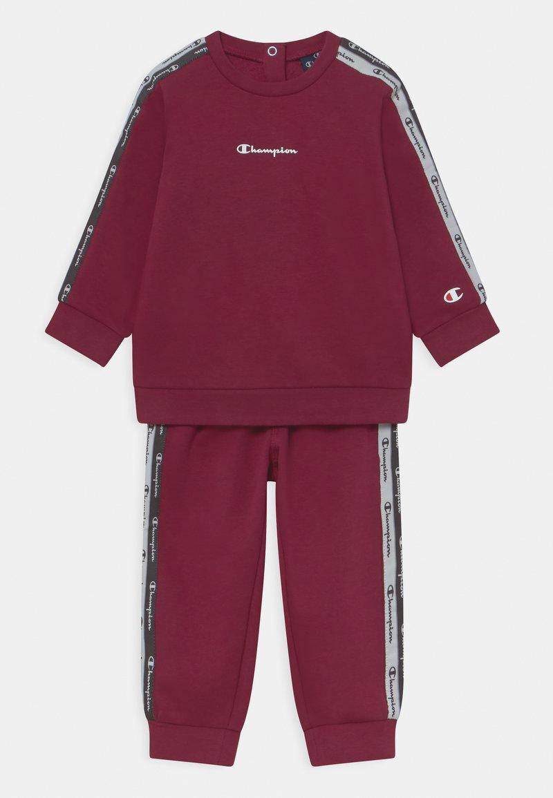 Champion - CREWNECK SUIT SET UNISEX - Tracksuit - dark red