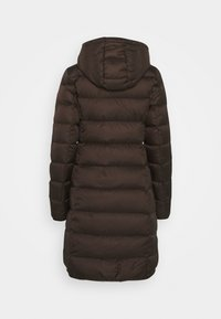 Marc O'Polo - COAT LONG FILLED HOOD FLAP POCKETS - Down coat - dark chocolate - 2