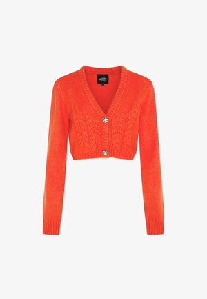 DUA LIPA X PEPE JEANS - Cardigan - bright orange