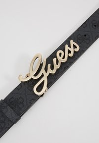 Guess - DIGITAL ADJUSTABLE PANT BELT - Pásek - coal - 4