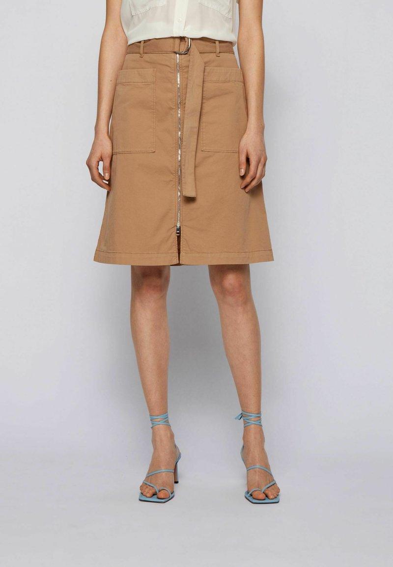 BOSS - A-line skirt - beige