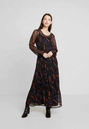JILLYS - Maxi dress - black/blue/metallic red