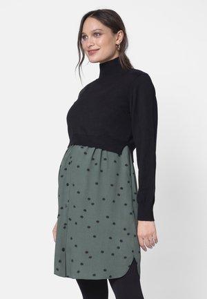 ESME - Jersey dress - khakiblk