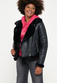 LolaLiza - Faux leather jacket - black - 0