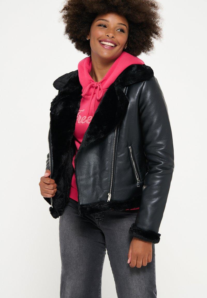 LolaLiza - Faux leather jacket - black