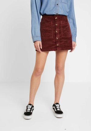 ALINE PATCH - A-line skirt - brown