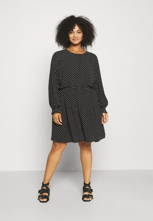 VMSAGA GATHERING DRESS - Day dress - black