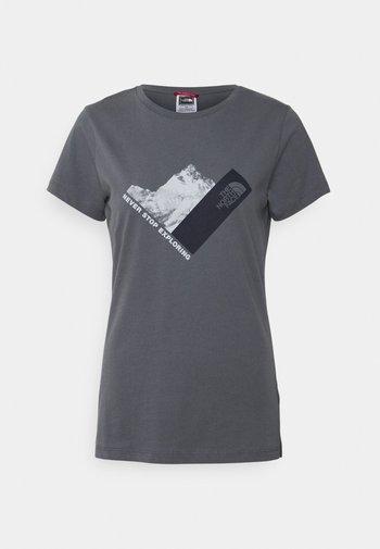 NEW CLIMB TEE - T-shirts med print - vanadis grey